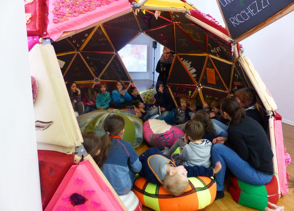 Workshop mit Kindern von der Wilhelm von Humboldtschule