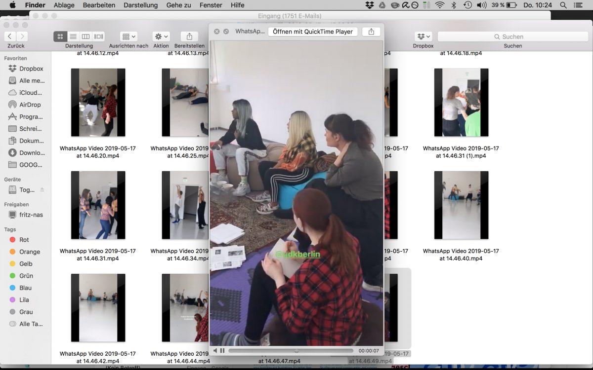 Niv Acosta und Fanni Sosa, workshop