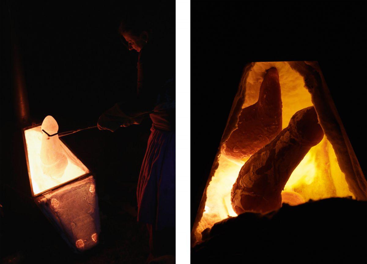 Rituale um einen Stein- und Papierofen