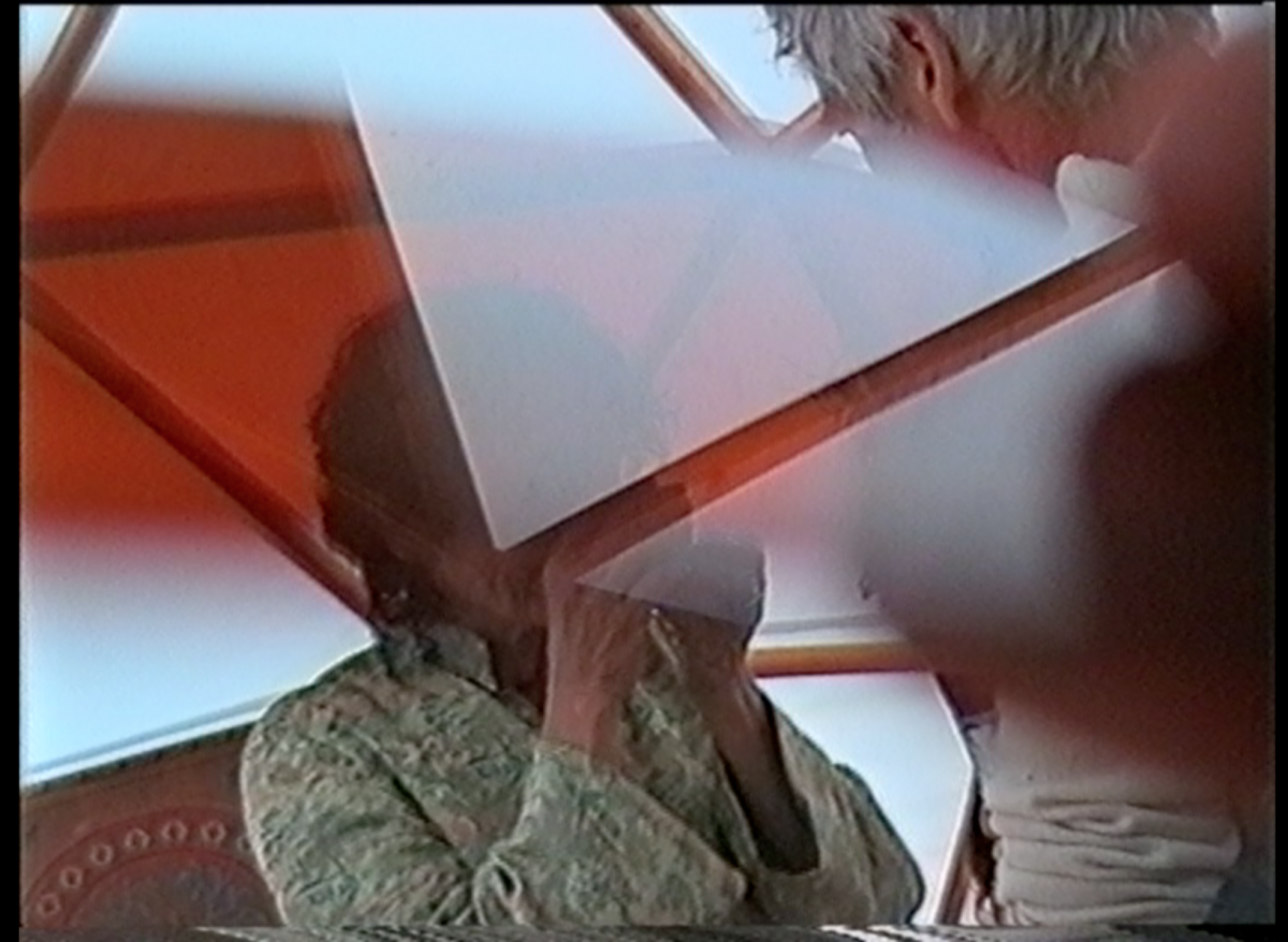 Aufnahme mit analoge Kamera durch Prisma