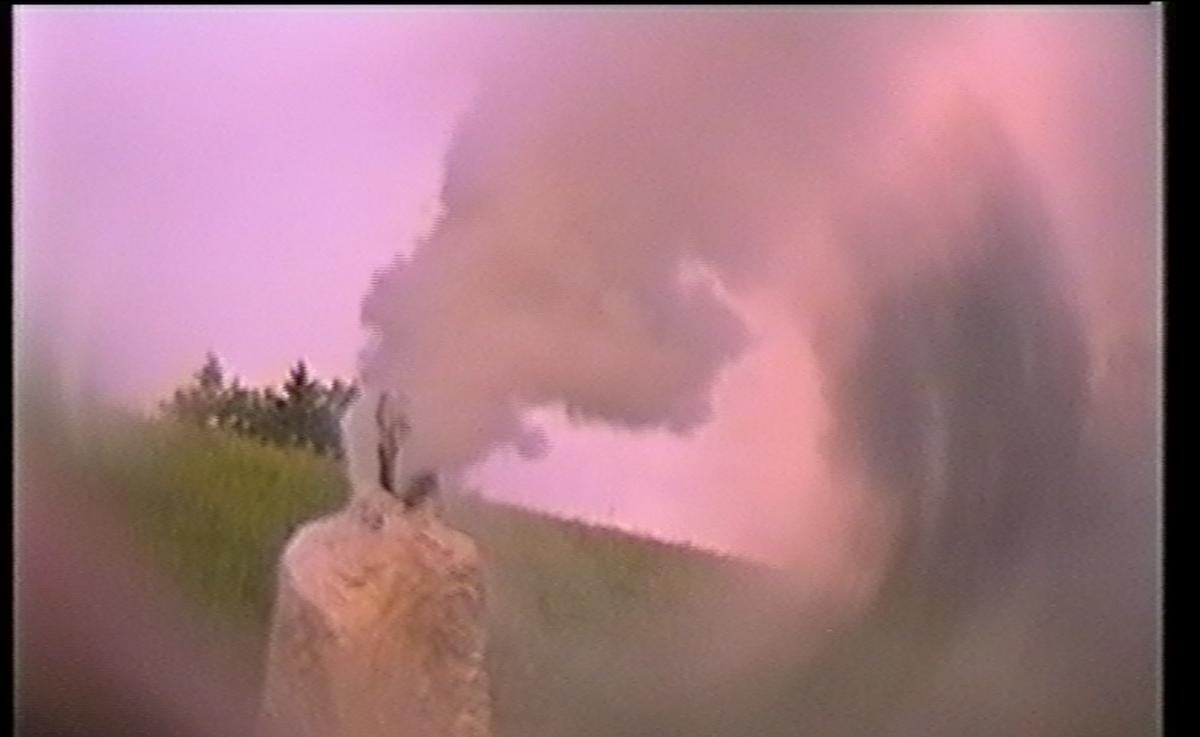 Aufnahme mit analoge Kamera mit Verzerrungsplinse