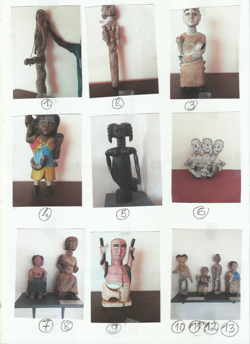 Kollektion von Mami Wata Skulpturen von Matti Juhani Karila