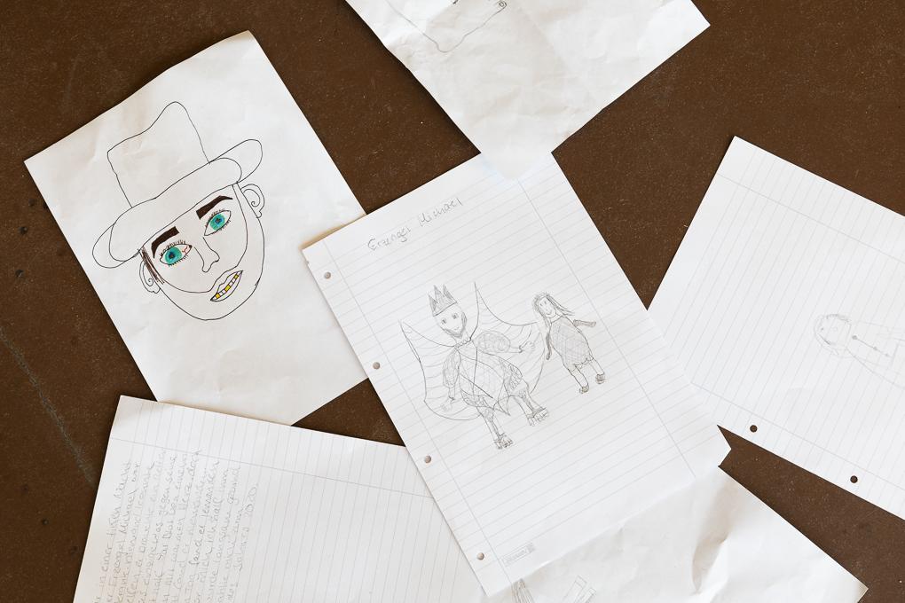Zeichnungen aus der Workshop